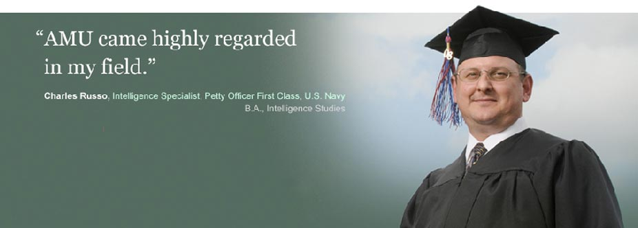 'AMU came highly regarded in my field' - Charles Russo, B.A., Intelligence Studies