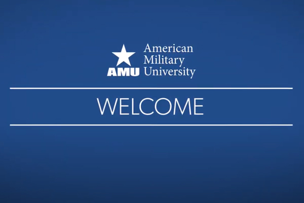 Title slide for video - Welcome to AMU