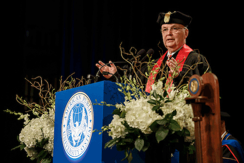 General Michael Hayden salutes record APUS Class of 2018.